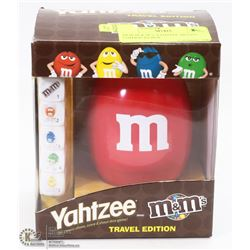 NEW M & M 'S YAHTZEE TRAVEL  EDITION IN BOX