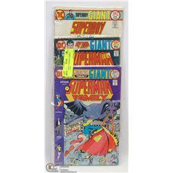 3 VINTAGE SUPERMAN COMICS GIANT SIZE