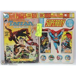 2 VINTAGE COMICS TARZAN AND SUPERBOY