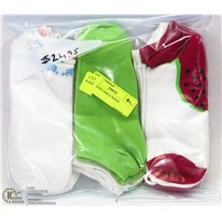 9PK LADIES ANKLE SOCKS
