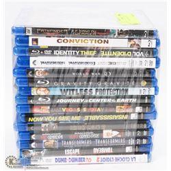 BUNDLE OF 15 BLU-RAY DVD MOVIES -