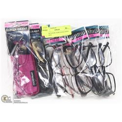 BAG W/10 NEW PAIRS OF READING GLASSES