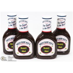 LOT OF 4 SWEET BABY RAYS HONEY BARBECUE SAUCE