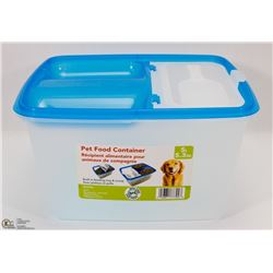 NEW PET FOOD CONTAINER WITH BUILT IN FEEDING TRAY