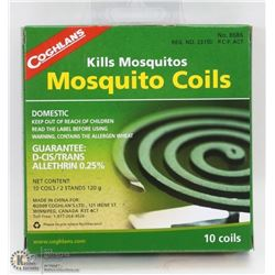 NEW COGHLAN'S 10 MOSQUITO COILS