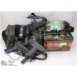 PAINTBALL GUN WITH ASSORTED PAINTBALLS