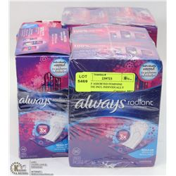 LOT OF ASSORTED FEMININE HYGIENE INCL INDIVIDUALLY