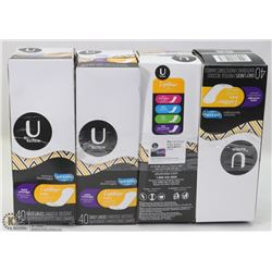 4 BOXES OF U KOTEX FEMININE HYGIENE