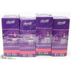 4 BOXES OF ALWAYS ACTIVE PANTY LINERS