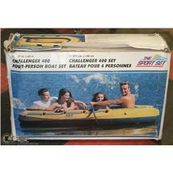 "107"" X 60"" CHALLENGER 400 4-PERSON BOAT SET"