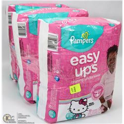 3 PACKS OF PAMPERS EASY UPS SIZE 4-5