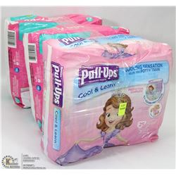 3 PACKS OF ASSORTED DIAPERS ALL SIZE 2-3
