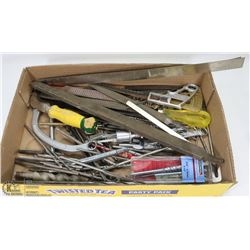 ESTATE FLAT OF DRILL BITS, FILES & MORE.