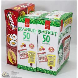 2 BOXES OF REAL FRUIT GUMMIES SOLD WITH BOX OF