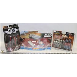 LOT OF 3  NEW SEALED TOYS - STAR WARS/WARCRAFT