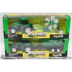 TWO SEALED NEW TRACTOR FARM TOY