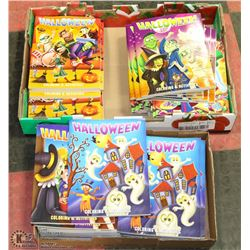 2 BOXES OF HALLOWEEN COLORING BOOKS 50+ TOTAL