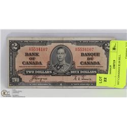 1937 CANADIAN $2.00 BILL.