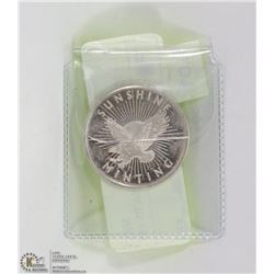 .999 SILVER HALF TROY OUNCE COIN.