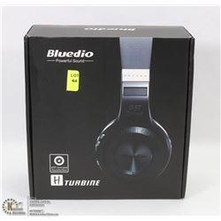 PAIR OF NEW BLUEDIO BLUETOOTH OVER EAR HEADPHONES