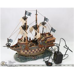 HALLOWEEN LEMAX  SPOOKY TOWN PIRATE SHIP WITH