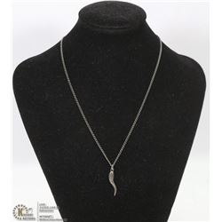 .925 SILVER CHAIN WITH .925 STAMPED PENDANT.