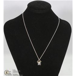 .925 SILVER CHAIN WITH .925 POT OF GOLD CHARM.