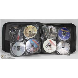 BLACK DVD CASE W/OVER 110 STORE BOUGHT