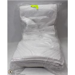 PACKAGE OF 6 NEW  WHITE  HOTEL BATH TOWELS