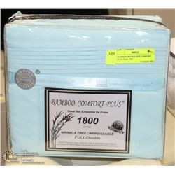 BAMBOO DOUBLE SIZE COMFORT PLUS TEAL 1800