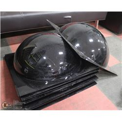 LOT OF 9 SECURITY DOMES