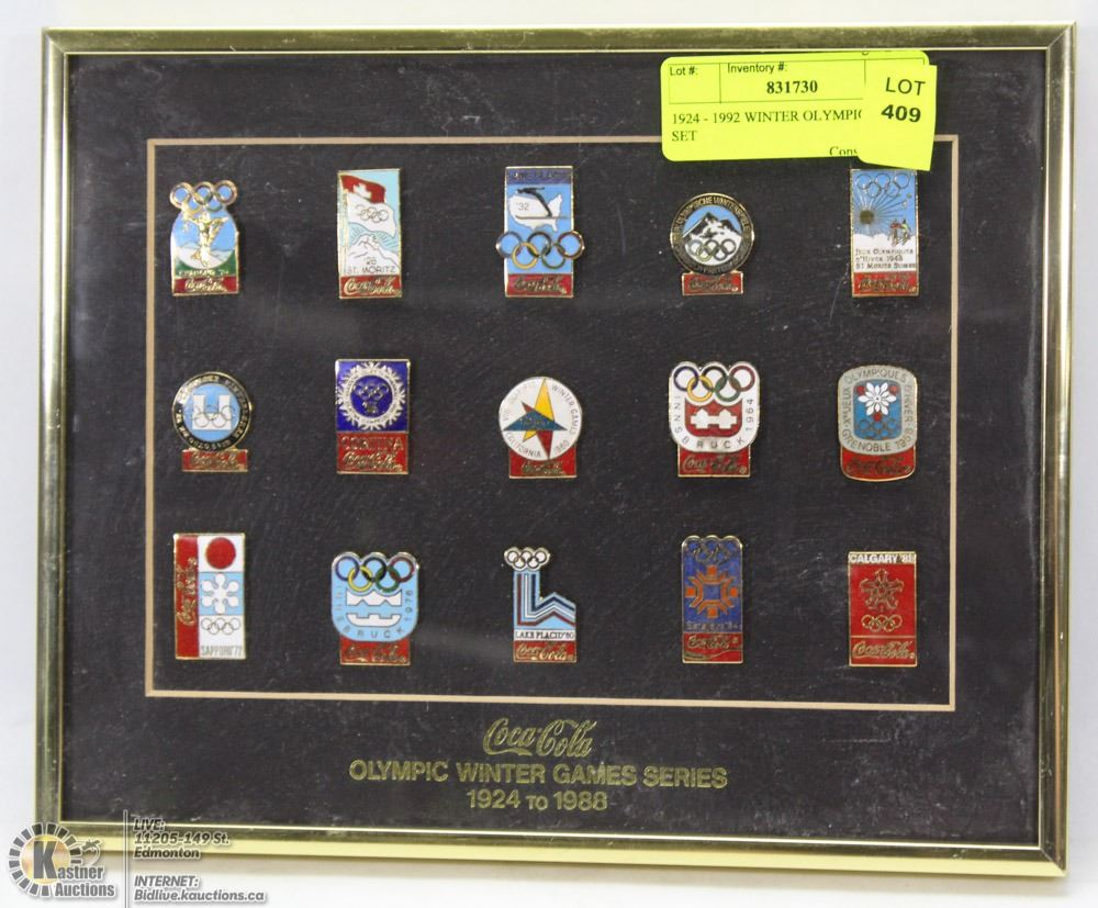 1924 - 1988 WINTER OLYMPICS PIN SET - Kastner Auctions