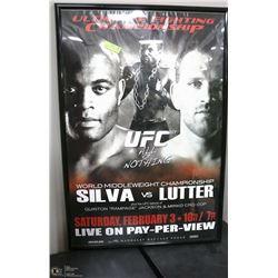 116) SILVA VS LUTTER UFC FRAMED POSTER