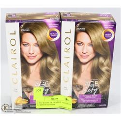 2 PACKAGES OF CLAIROL  AGE DEFY LUMINOUS COLOR