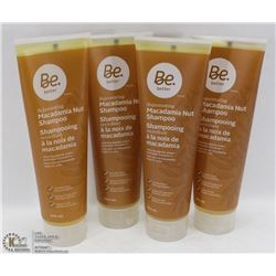 4- 296ML BOTTLES OF BE BETTER MACADAMIA NUT SHAMPOO