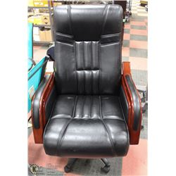 "LEATHERETTE HYDRAULIC 28"" OFFICE CHAIR."