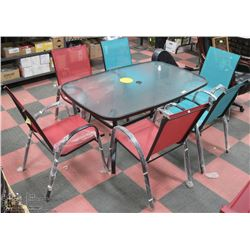 MAPLE VALLEY OUTDOOR DINING TABLE WITH 6 CHAIRS