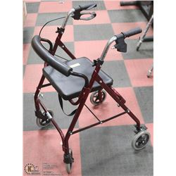 FOLDING WALKER WITH WHEELS-ON CHOICE
