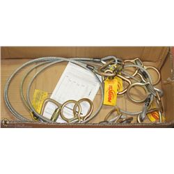 BOX OF 4 CABLE SLINGS