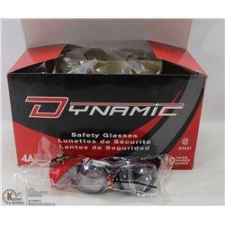 CASE OF 10 DYNAMIC SAFETY GLASSES