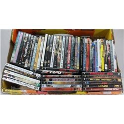 FLAT OF 50+ ASSORTED DVDS