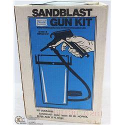 SEARS SANDBLAST GUN KIT INCL. GUN, 50LB HOPPER,