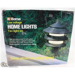 LOW VOLTAGE HOME LIGHTS 10 LIGHT KIT 12V SYSTEM