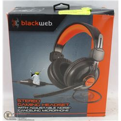BLACKWEB STEREO GAMING HEADSET WITH NOISE