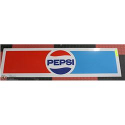 VINTAGE PEPSI COLA SIGN 4 FEET X 1 FOOT