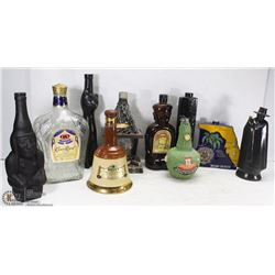 LARGE LOT OF COLLECTIBLE DECORATIVE BOTTLES