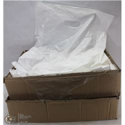 2 PARTIAL CASES OF T SHIRT BAGS