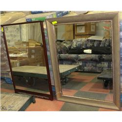 LOT OF 2 ASSORTED MIRRORS