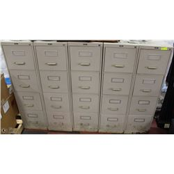 5 FILING CABINETS AS IS