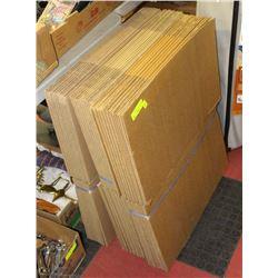 3 BUNDLES OF NEW CARDBOARD BOXES